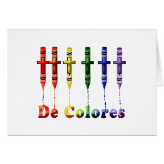 Crayon De Colores Note Card with Crayons