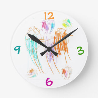 Crayon Drawing Clock