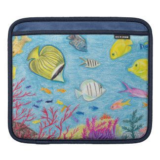 Crayon Fish #4 - iPad Sleeve