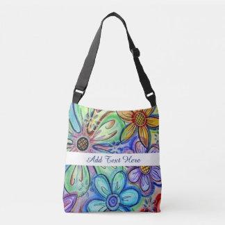 Crayon Flowers Crossbody Bag