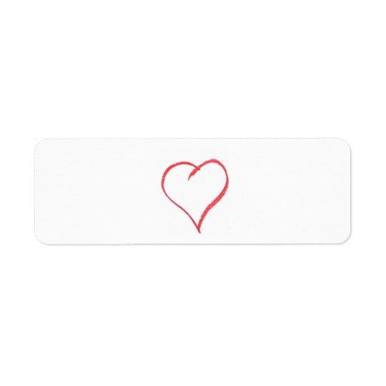 Crayon Heart Label
