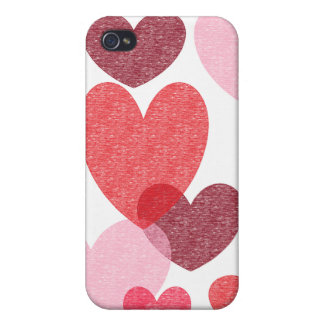 Crayon Hearts iphone case iPhone 4/4S Cover