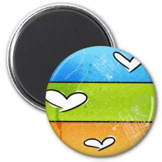 Crayon Hearts Magnet