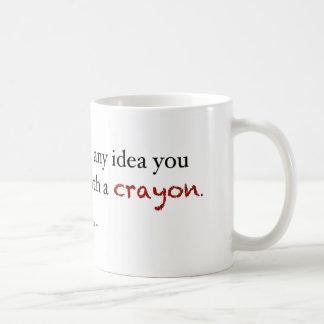 Crayon investing coffee mug