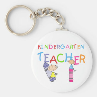 Crayon Kindergarten Teacher Tshirts and Gifts Keychain
