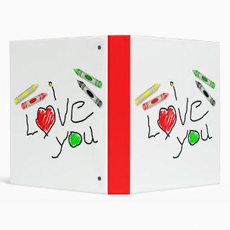 Crayon Love 3 Ring Binder