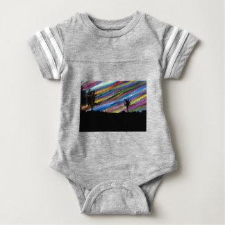 Crayon painting baby bodysuit