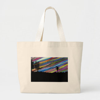 Crayon painting large tote bag