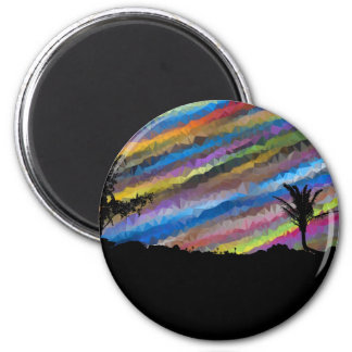 Crayon painting magnet