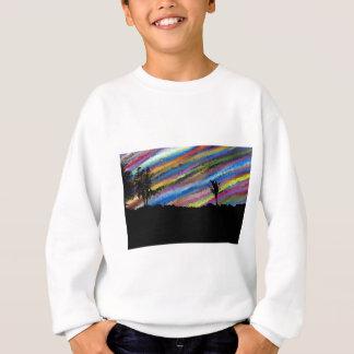 Crayon painting sweatshirt
