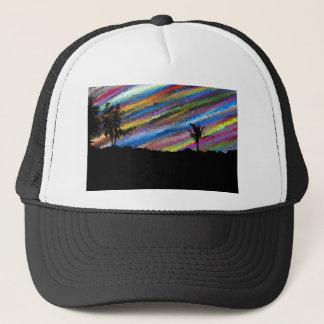 Crayon painting trucker hat