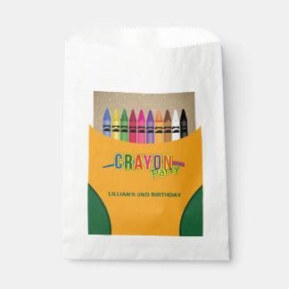 Crayon Party Favour Bag