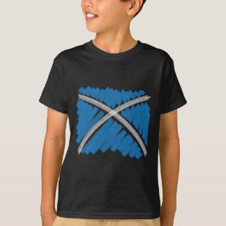 Crayon Saltire T-Shirt