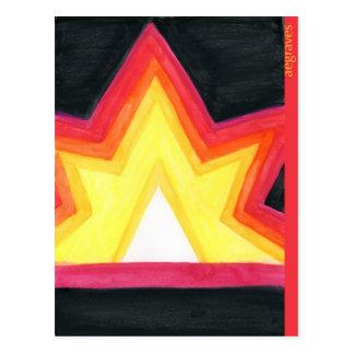 Crayon starburst postcard