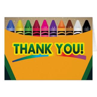 Crayon Thank You Cards