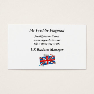 Crayon Union Jack, Business Card