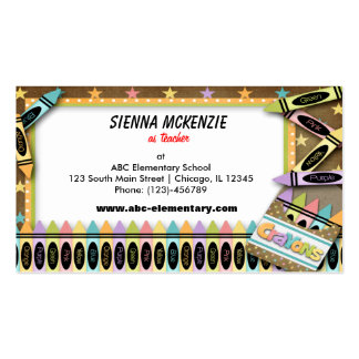 Crayons Business Card Template