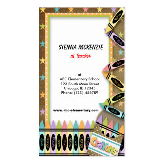 Crayons Pack Of Standard Business Cards