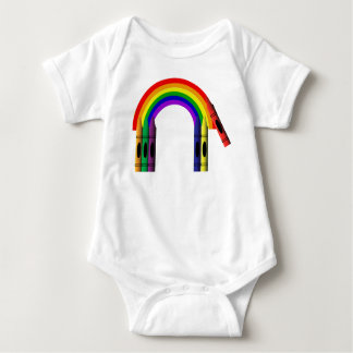 Crayons Color Crayon Rainbow Cute Infant Creeper