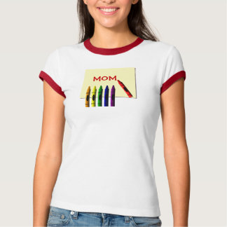 Crayons Color Me Mom T-Shirt
