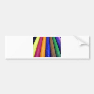 Crayons colorés autocollant de voiture