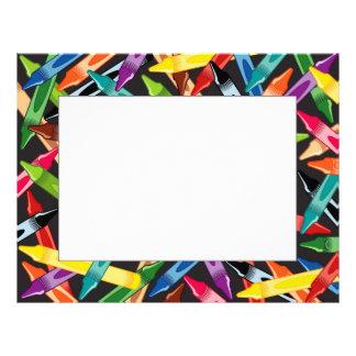 Crayons Frame Customized Letterhead