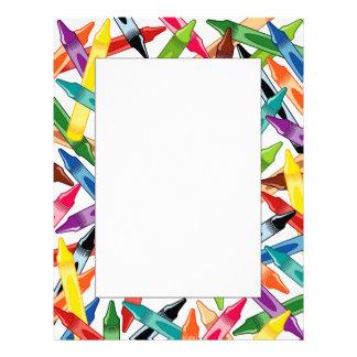 Crayons Frame Custom Letterhead