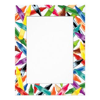 Crayons Frame Letterhead Design