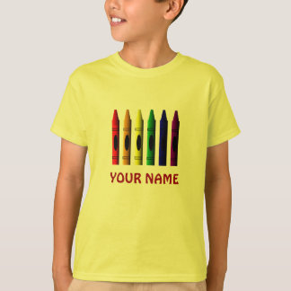 Crayons Name Template Crayon Kids T-shirt
