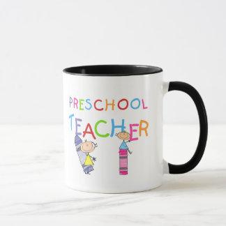 Crayons Preschool Teacher Tshirts and Gifts Mug