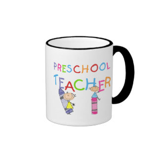 Crayons Preschool Teacher Tshirts and Gifts Ringer Mug