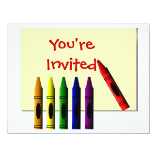 Crayons You're Invited Card