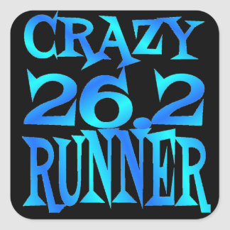 Crazy 26.2 Runner Square Sticker