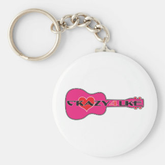 Crazy 4 Uke Keychain