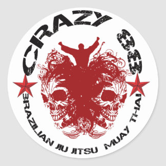 CRAZY 88 - TAG 1 ROUND STICKER