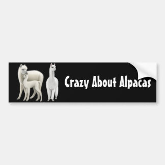 Crazy About Alpacas Bumper Sticker