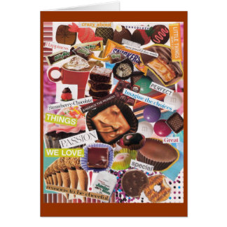 Crazy about Chocolate Notecard