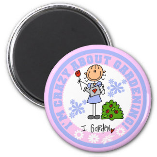 Crazy About Gardening Magnet