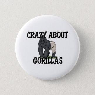 Crazy About Gorillas 2 Inch Round Button