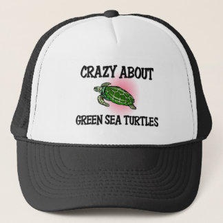 Crazy About Green Sea Turtles Trucker Hat