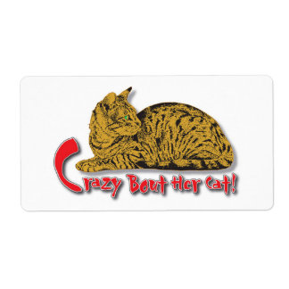 Crazy about her Cats! Shipping Label