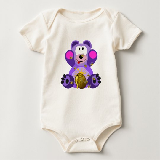 Crazy About Honey Organic Baby Romper