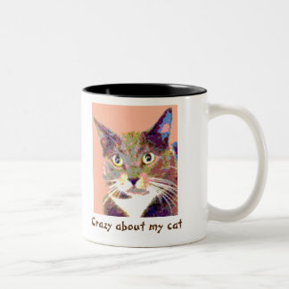 Crazy About My Cat Personalized Mug