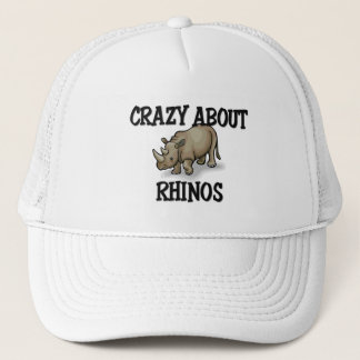 Crazy About Rhinos Trucker Hat