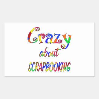 Crazy About Scrapbooking Rectangular Stickers