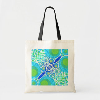 Crazy Abstract Pattern Budget Tote Bag
