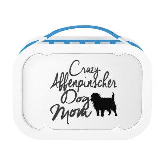 Crazy Affenpinscher Dog Mom Lunch Box