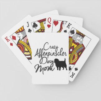 Crazy Affenpinscher Dog Mom Playing Cards