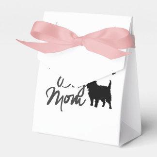 Crazy Affenpinscher Dog Mom Wedding Favor Box