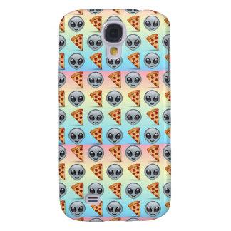 Crazy Aliens & Pizza Emoji Pattern